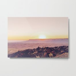 summer sunset over the mountain in the desert in Utah, USA Metal Print