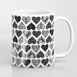 Wild Hearts in Black and White Coffee Mug