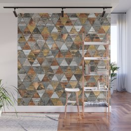 Rustic Geometry 3 Wall Mural