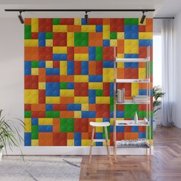 Plastic pieces pattern Wall Mural