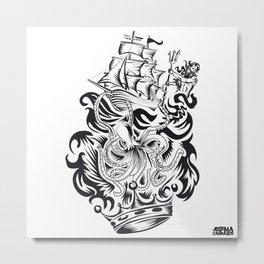 ONE INK OCTOPUS Metal Print