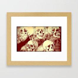 Spooky Skulls bywhacky Framed Art Print