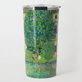 """Gustav Klimt """"Schloss Kammer on the Attersee"""" III. Travel Mug"""