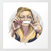 silent Art Prints featuring Silent by Katarzyna Urbaniak