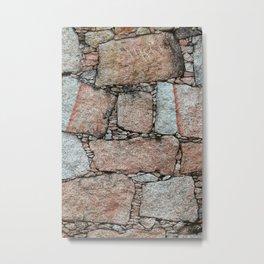 Old vintage abstract granite wall Metal Print
