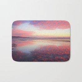 A Sunset Like Cotton Candy Bath Mat