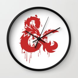 Dungeons & Dragons Stylized Logo Wall Clock