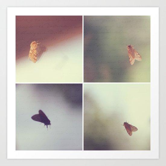 Moth Collage Art Print