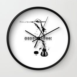 Freedom of Speech Wall Clock