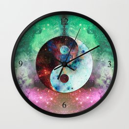Ying-Yang Galaxy Wall Clock