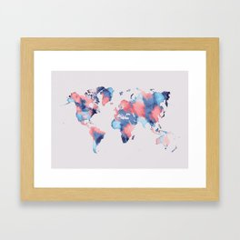 map world map 58 Framed Art Print