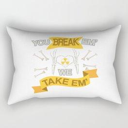 Rad Tech X Ray Skeleton Radiology Technican Gift Rectangular Pillow