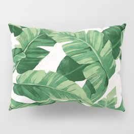 Tropical banana leaves IV Pillow Sham