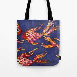 Goldfish batik Tote Bag