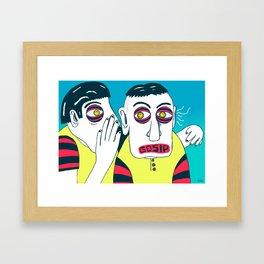 GOSIP Framed Art Print