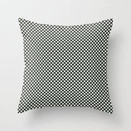 Duffel Bag and White Polka Dots Throw Pillow