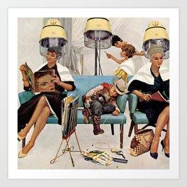Retro Beauty Salon Kunstdrucke
