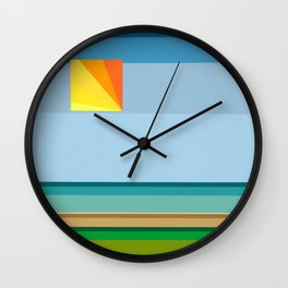 """Moment #13"" Montana Gold Spray Paint on Birch Panel 14″ x 14″ x 1.5"" *Original Sold Wall Clock"