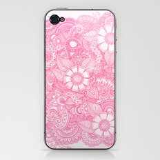 Henna Design - Pink iPhone & iPod Skin