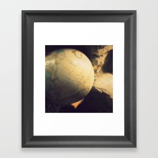 If I Could Travel The World Framed Art Print