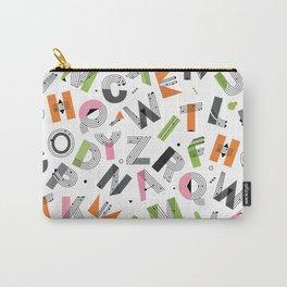 Alphabet seamless pattern. Memphis Design Carry-All Pouch