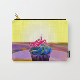 Happy Birthday Cupcake Carry-All Pouch