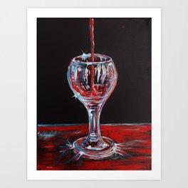 Magical Liquid Art Print