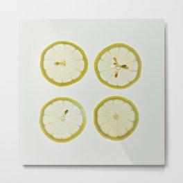 Lemon Square Metal Print