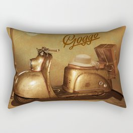 Goggo scooter from the 50s Rectangular Pillow