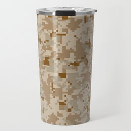 Desert Digital Camouflage Pattern Travel Mug