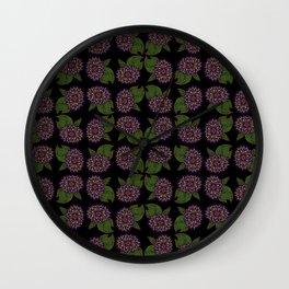 Fall Flora Wall Clock