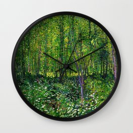 Vincent Van Gogh Trees & Underwood Wall Clock