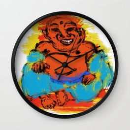 fat buddha Wall Clock