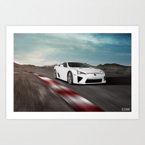 Lexus LFA Track Art Print