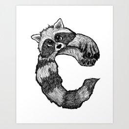 C - Animal Alphabet Art Print