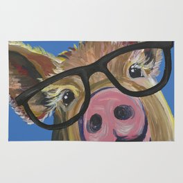 Pig Painting Rugs Society6