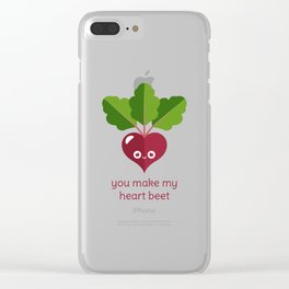 You Make My Heart Beet Clear iPhone Case