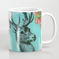 stag Mugs featuring Stag by Ginger Pigg Art & Design