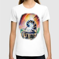 shell T-shirts featuring Shell by Naushad Arts