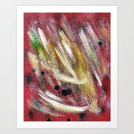 Cosmic red Art Print