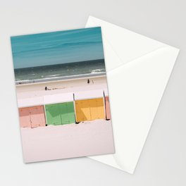 Beach Cabins North Sea Stationery Cards