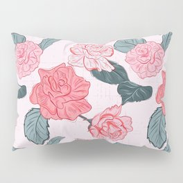 Roses and leaves Pillow Sham