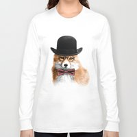 gentleman Long Sleeve T-shirts featuring Gentleman by JM Illustration