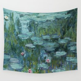 """Claude Monet """"Water Lilies"""" (8)(1915) Wall Tapestry"""