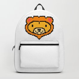 Pixel Lion Game Console Computer 16 Bit Vinatge Retro Gift Idea Backpack