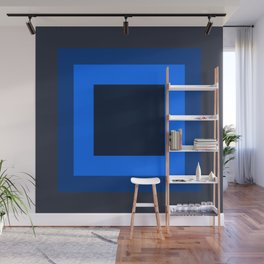 Navy Blue Square Design Wall Mural