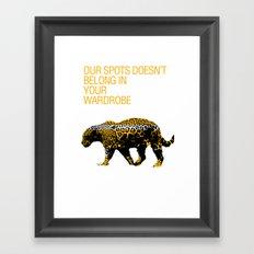 Leopard Spots Framed Art Print