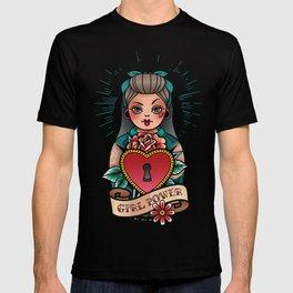 Rockabilly pin up girl tattoo T-shirt