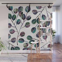 Silver Dollar Eucalyptus – Deep Cool Palette Wall Mural