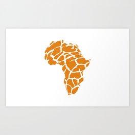 GiraffAfrica Art Print